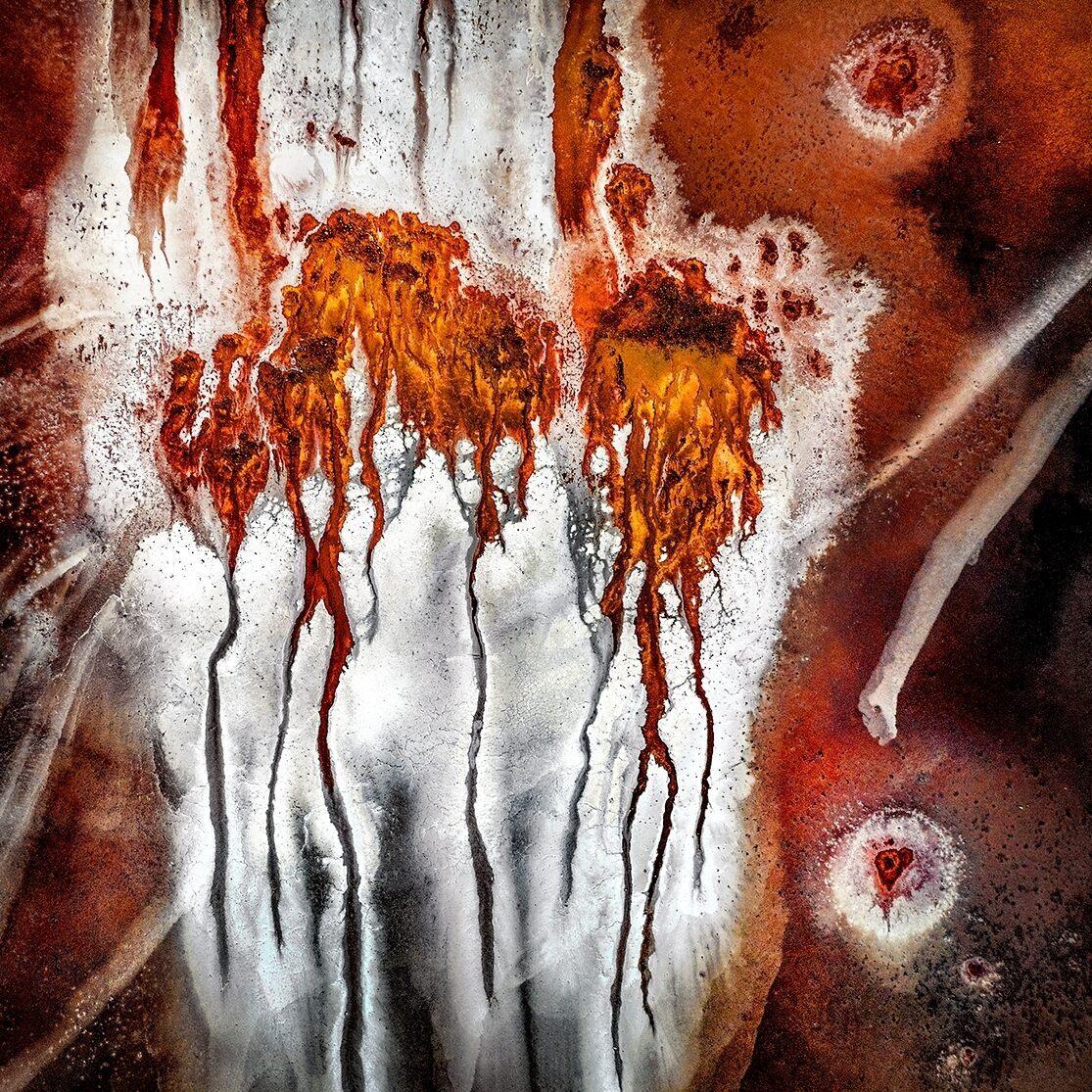 Iron-rich springs at Australia's Lake Tyrrell provide intense color in <em>Heart of the Salt Lake.</em>