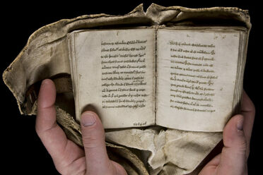 A girdle book held by the Beinecke Library at Yale University.