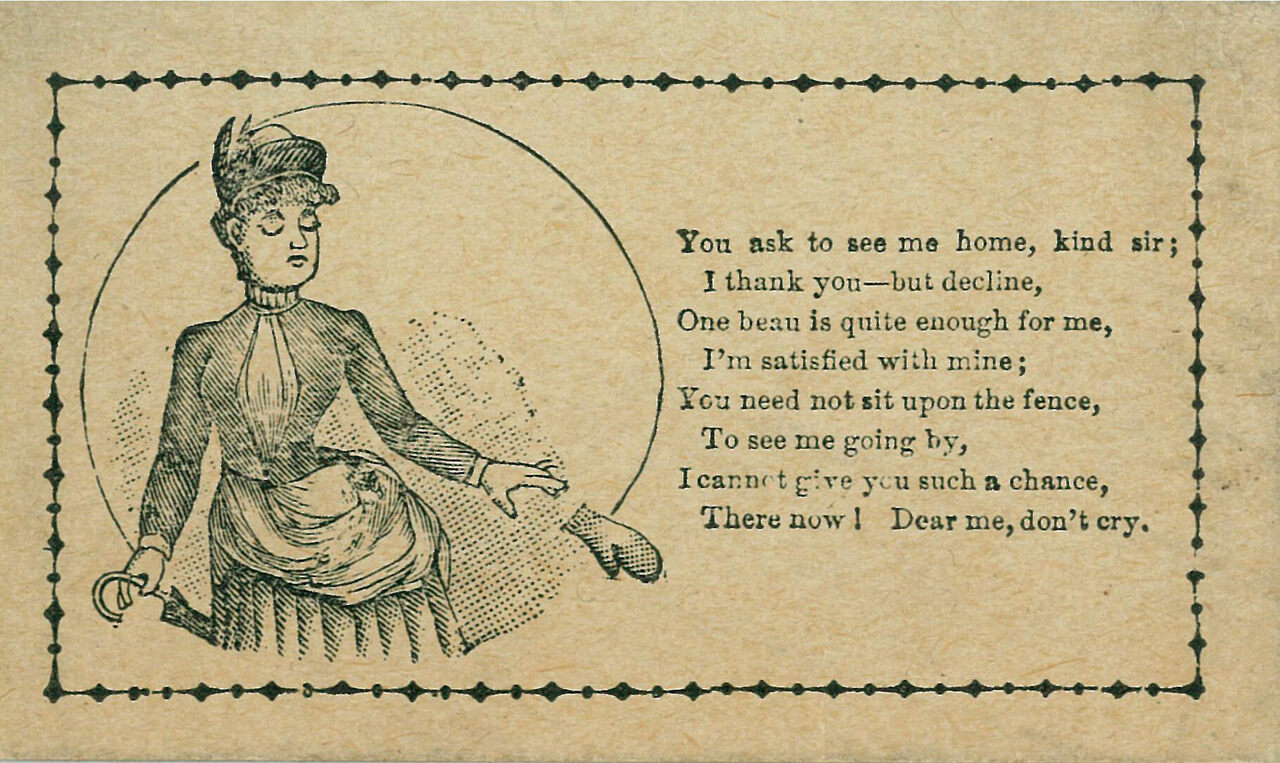 The Rude, Cruel, and Insulting 'Vinegar Valentines' of the Victorian Era