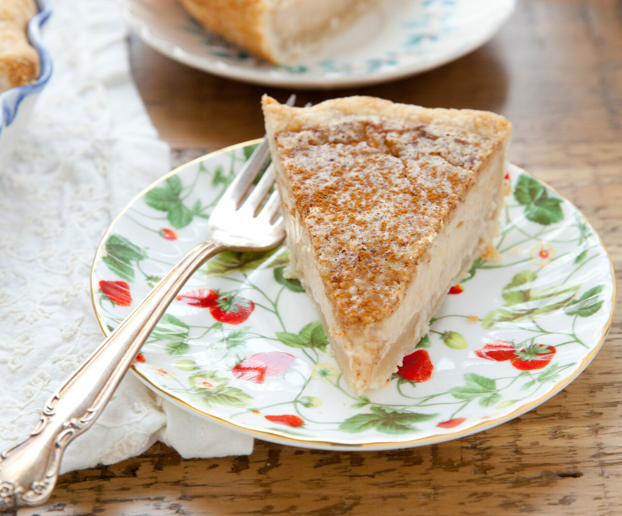 You probably have the ingredients for sugar cream pie in your kitchen.