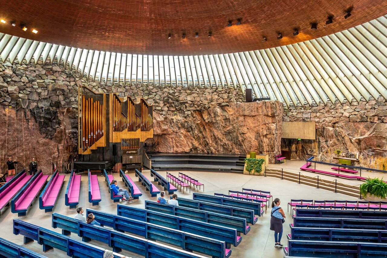 Below the bustling streets of Helsinki, Temppeliaukio Church is one of several subterranean sites that attract locals and tourists alike.
