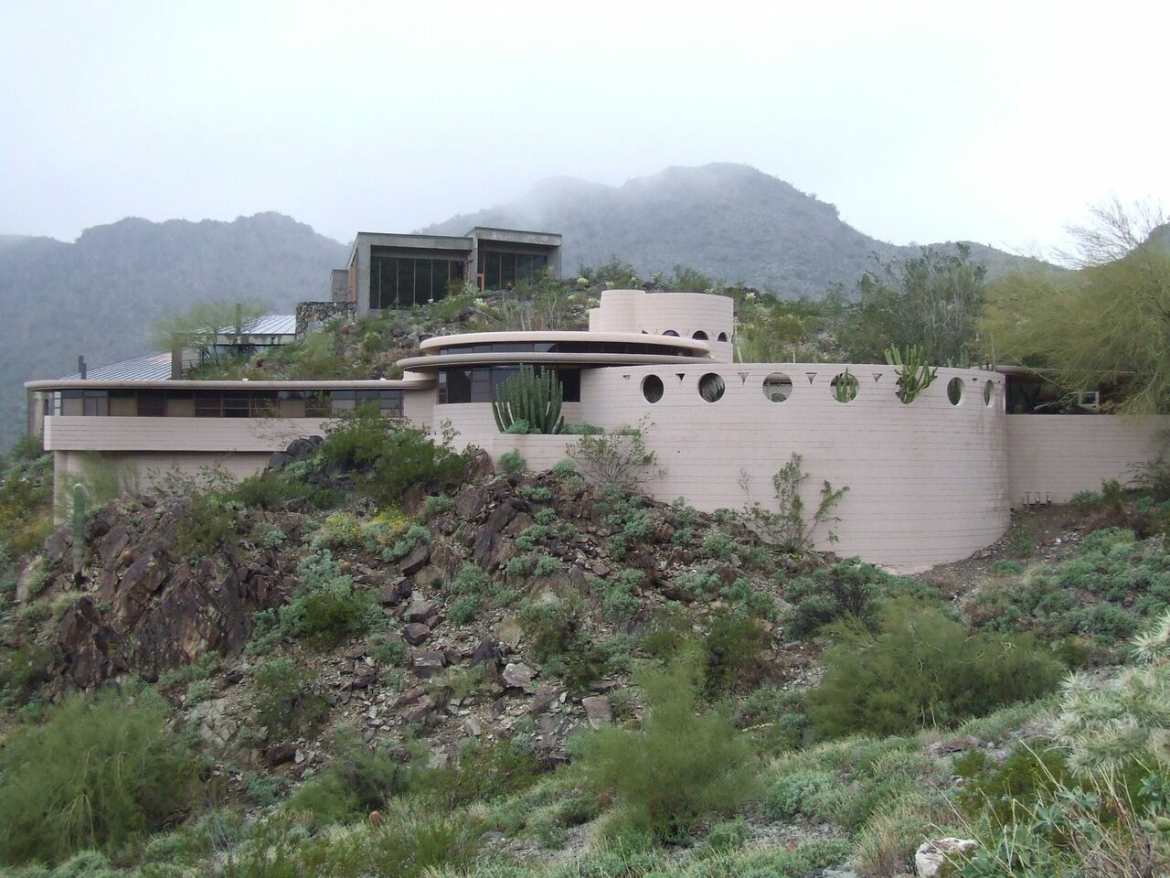 The Lykes House, nestled in the mountains of Phoenix, Arizona.