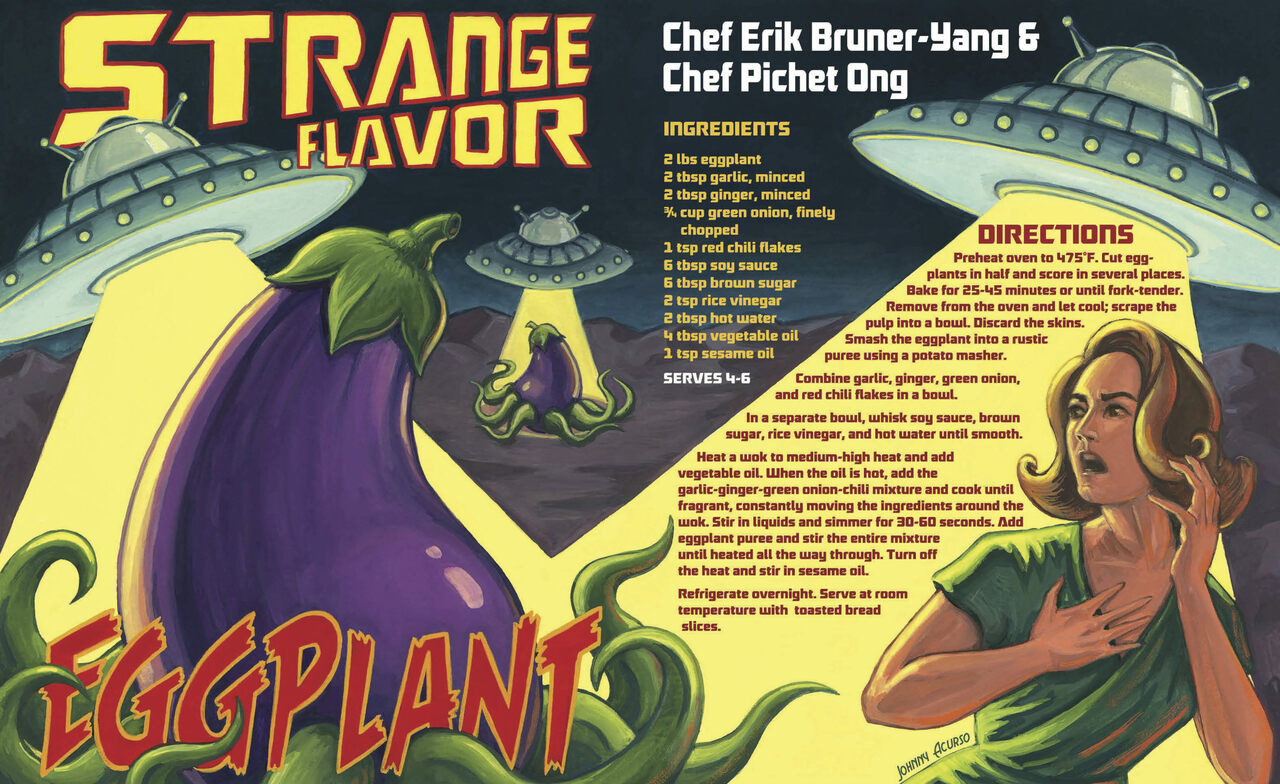 Strange Flavor Eggplant recipe by Erik Bruner-Yang and Pichet Ong.