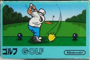 <em>Golf</em> was first released for the Famicom, the Japanese version of the NES.