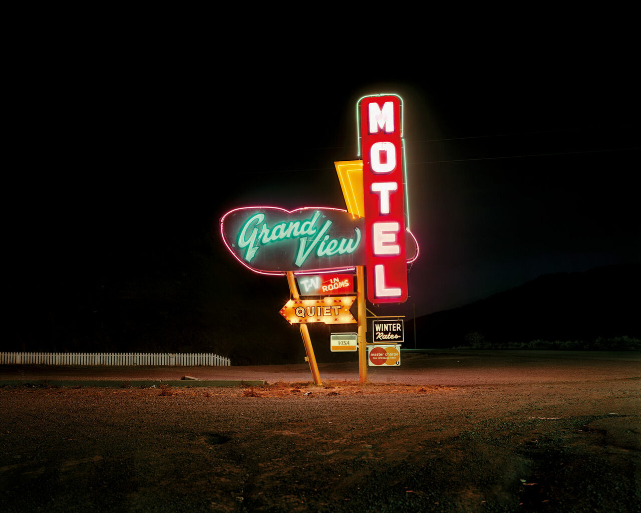 <em>Grand View Motel, Raton, New Mexico; December 18, 1980.</em>