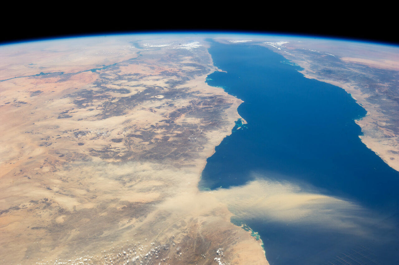 The Red Sea, dividing Africa and Arabia, may be the world's youngest ocean.