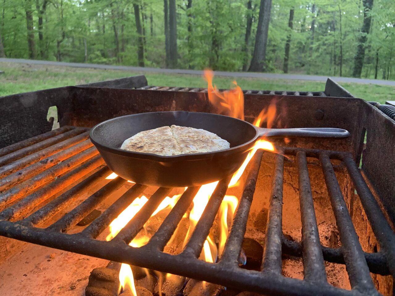 You can cook the bannock on the stove or, in the true spirit of Beltane, over an open flame.