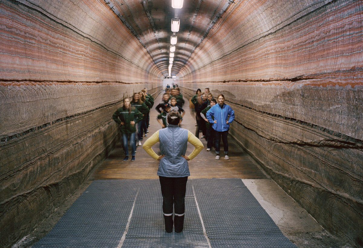 Inside the National Speleotherapy Clinic in Belarus, where treatments are carried out in an active salt mine nearly 1,400 feet underground.