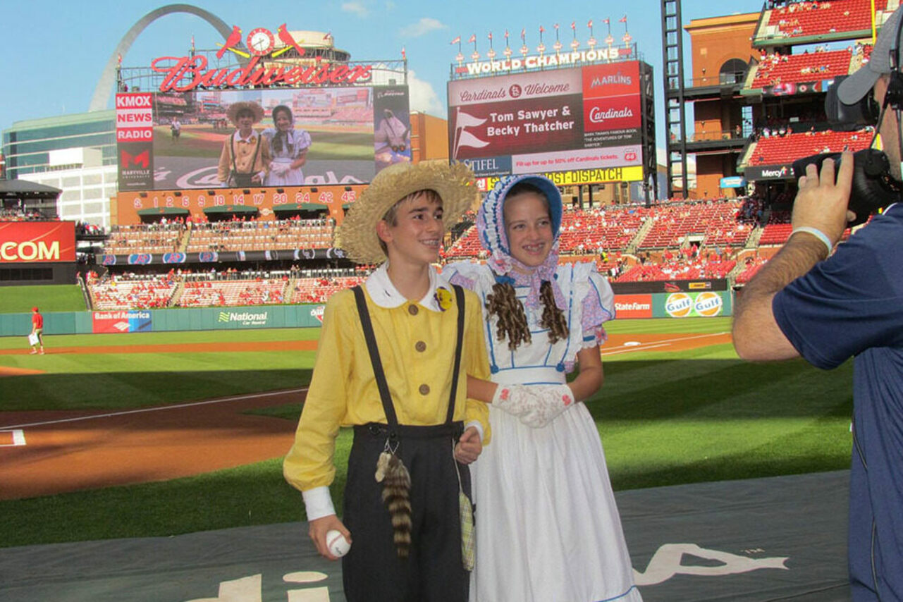 The Tom and Becky Goodwill Ambassadors visit the Busch Stadium in St. Louis.