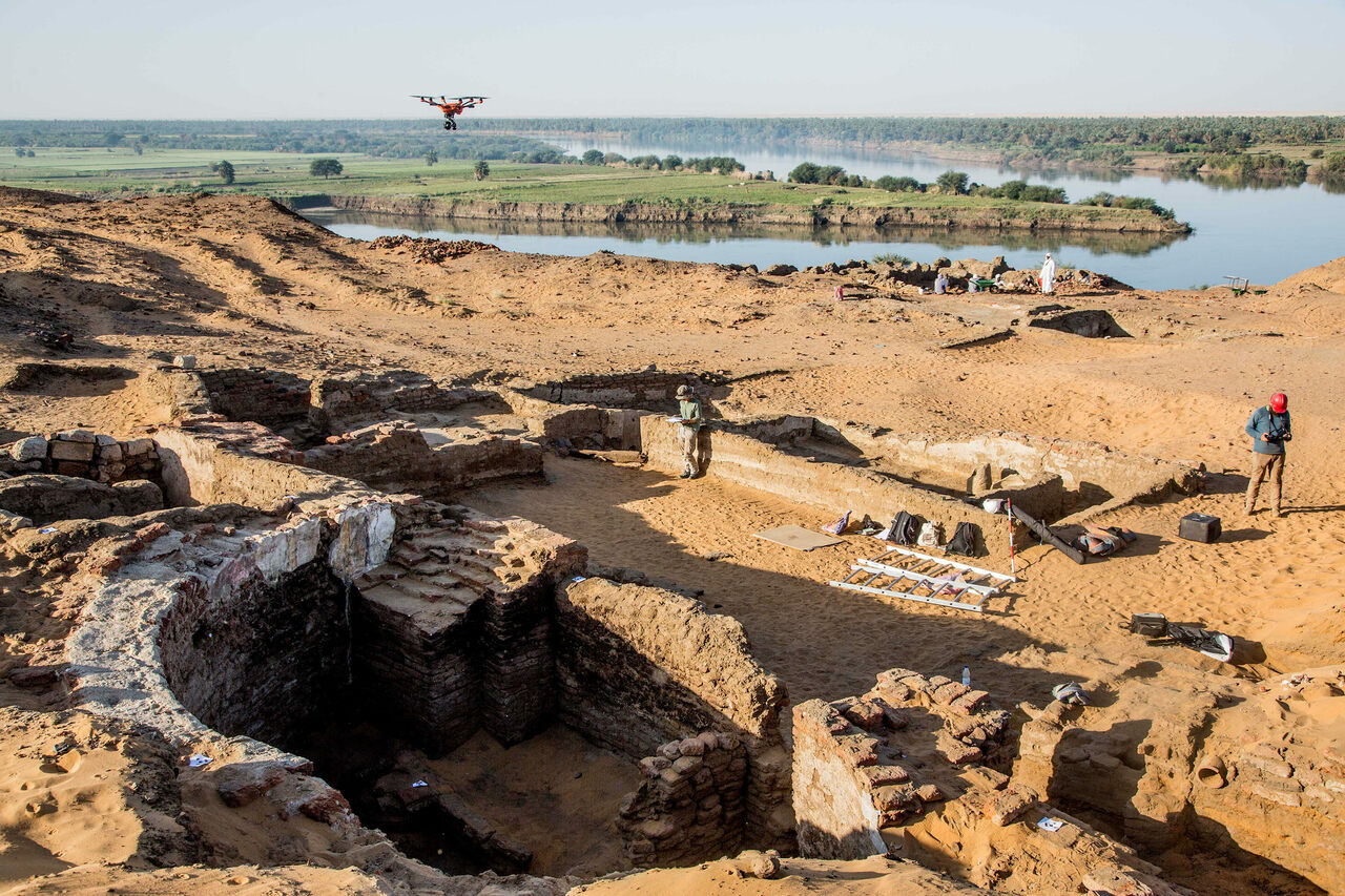 The excavation site, on the eastern bank of the Nile.