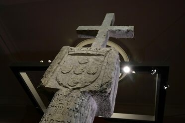 The 15th-century stone cross will be returned to Namibia this August.
