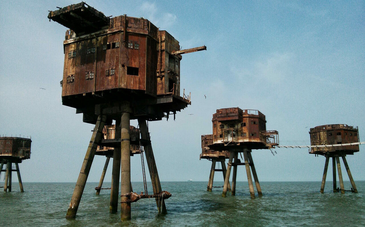 Zombies aren't swimming to these old army forts in the Thames Estuary.