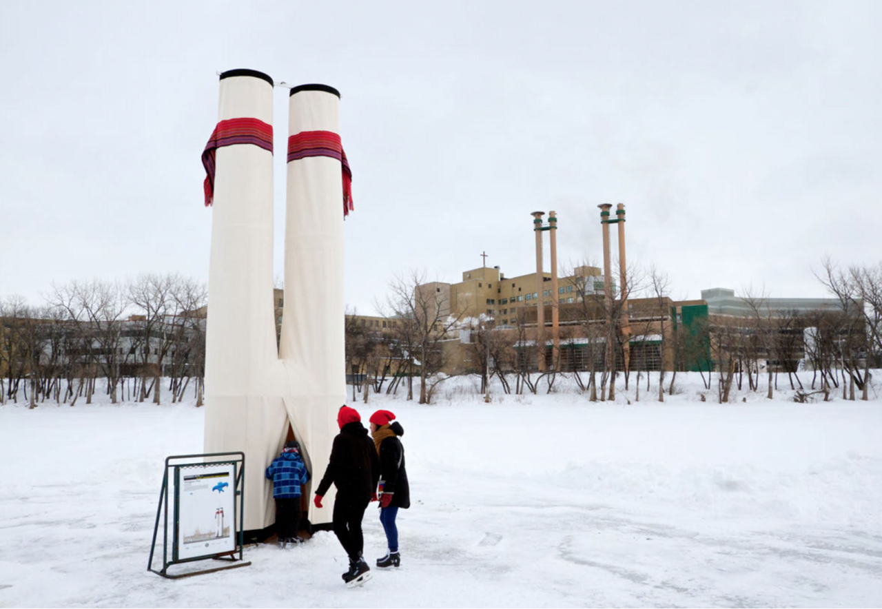 """The shape of 2014's """"Voyageur Hut"""" was inspired by an upside-down pair of pants."""