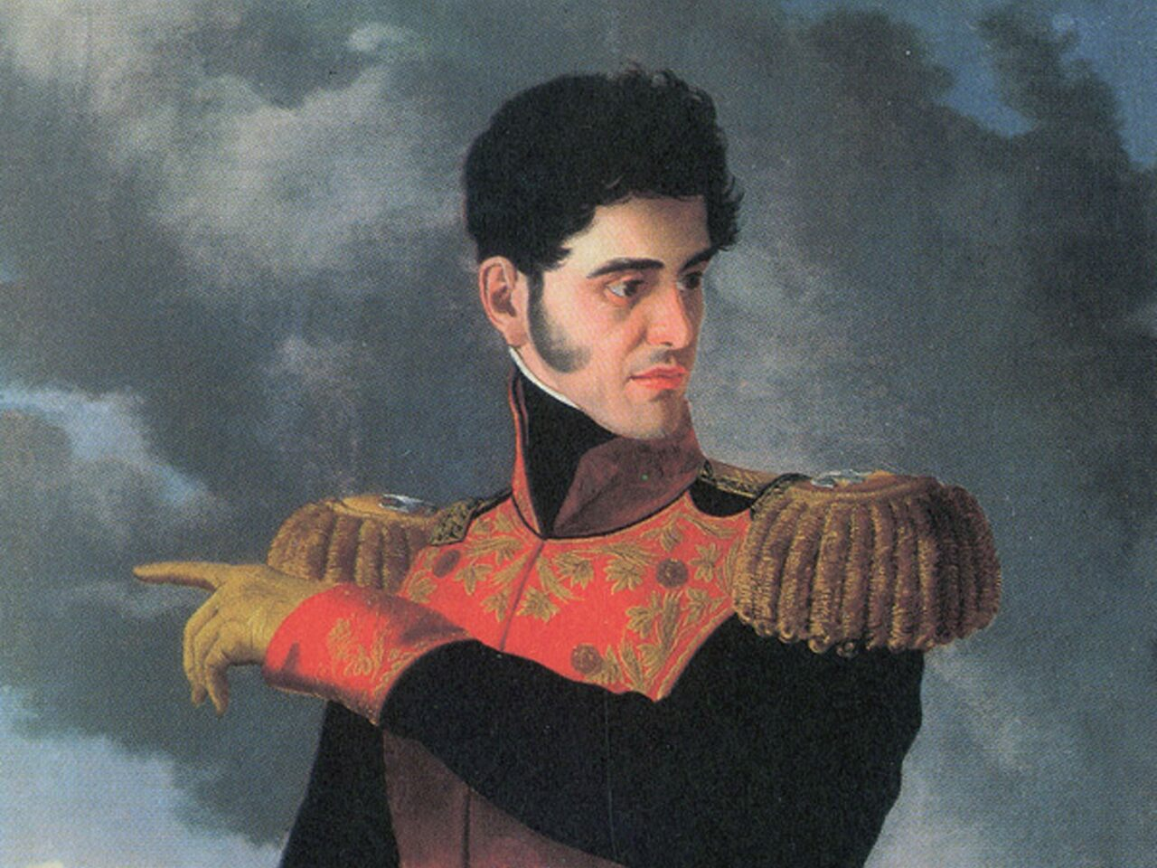 Antonio López de Santa Anna in his days as a dashing soldier, before his unglamorous exile.