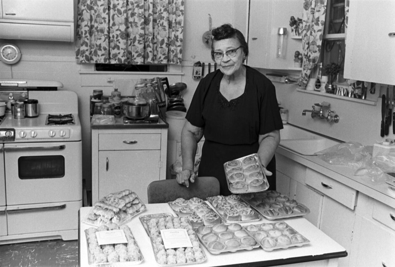 Lucille Bishop Smith, shown here in her kitchen, was especially renowned for her hot rolls.
