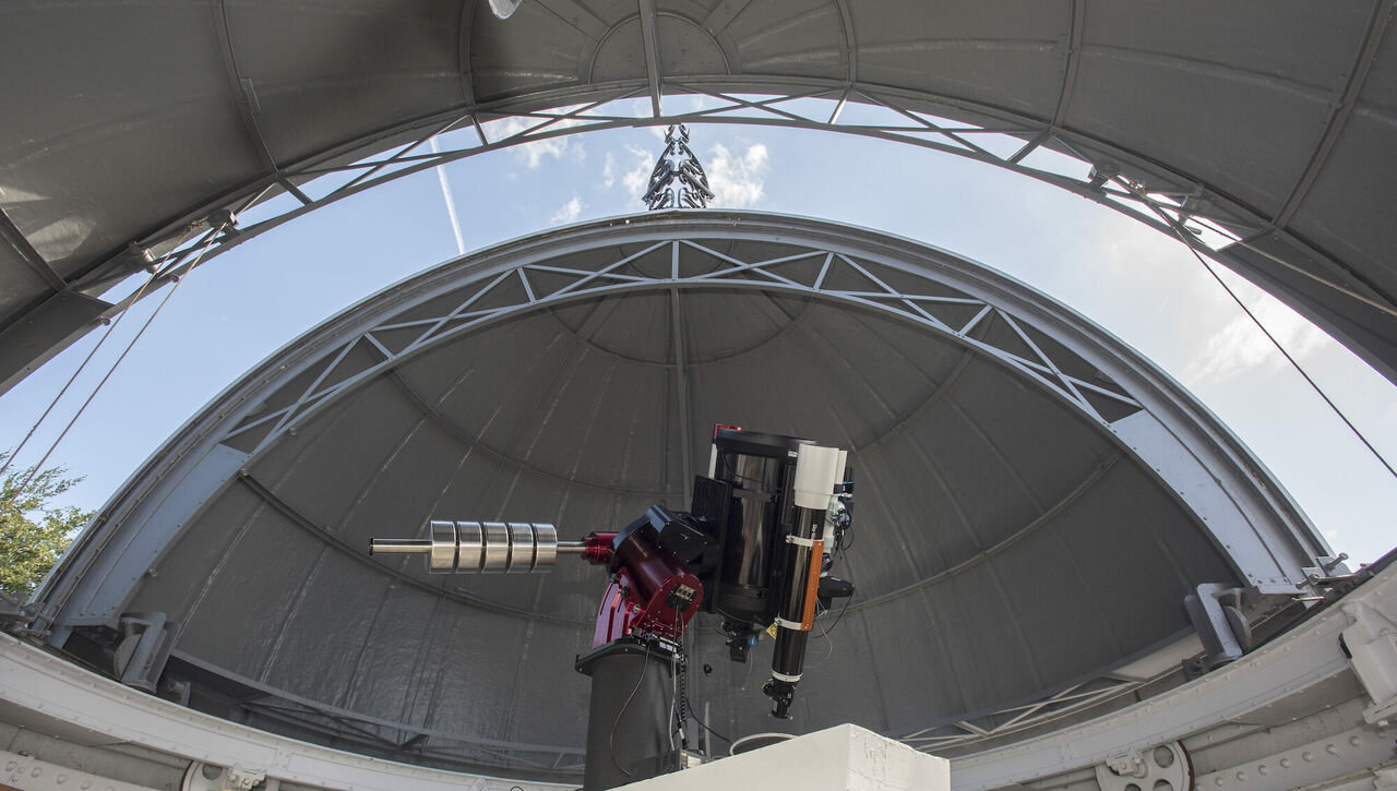 The Annie Maunder Astrographic Telescope (AMAT) at the Royal Observatory Greenwich.