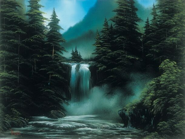 <em>Blue Ridge Falls</em>, from season 30, episode 13, now belongs to the Smithsonian's permanent collection.