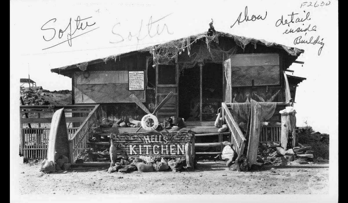 Hell's Kitchen, erected at edge of Salton Sea.