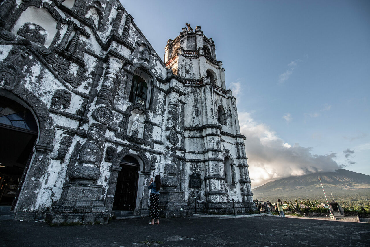 The Daraga Church was built in the Philippines by the Franciscans in the 1770s.