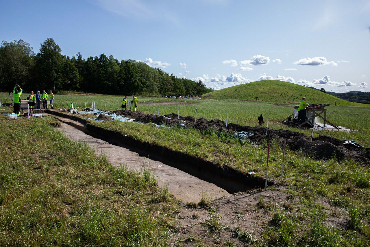 A test trench was dug at the site, some 50 miles south of Oslo, to inspect the find before it's further excavated.