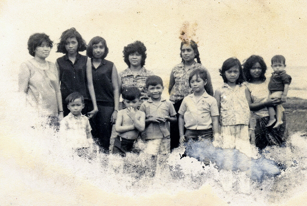 The Ramas on a family vacation in Kep, before the Khmer Rouge took over.