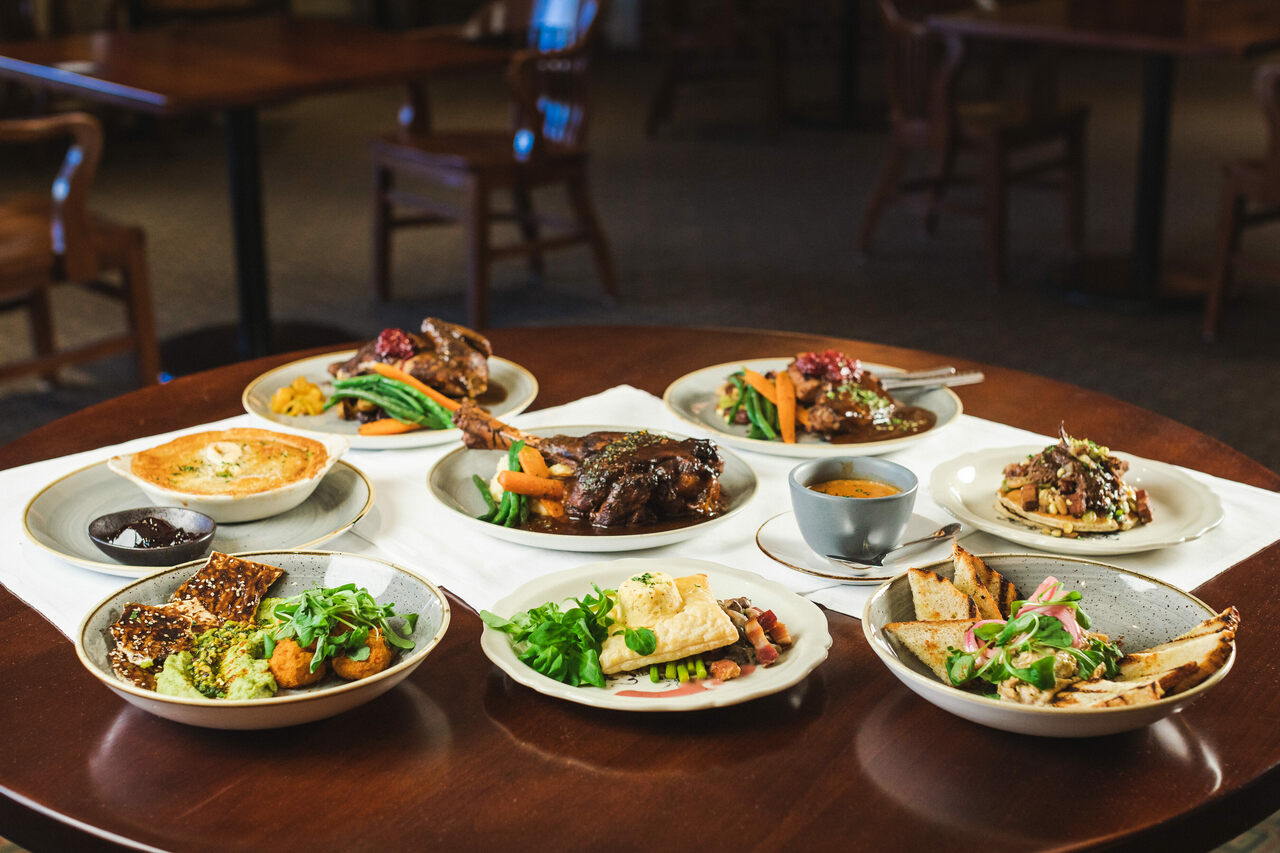 New menu items made for a tasting—held at a different venue due to renovations—before the reopening.