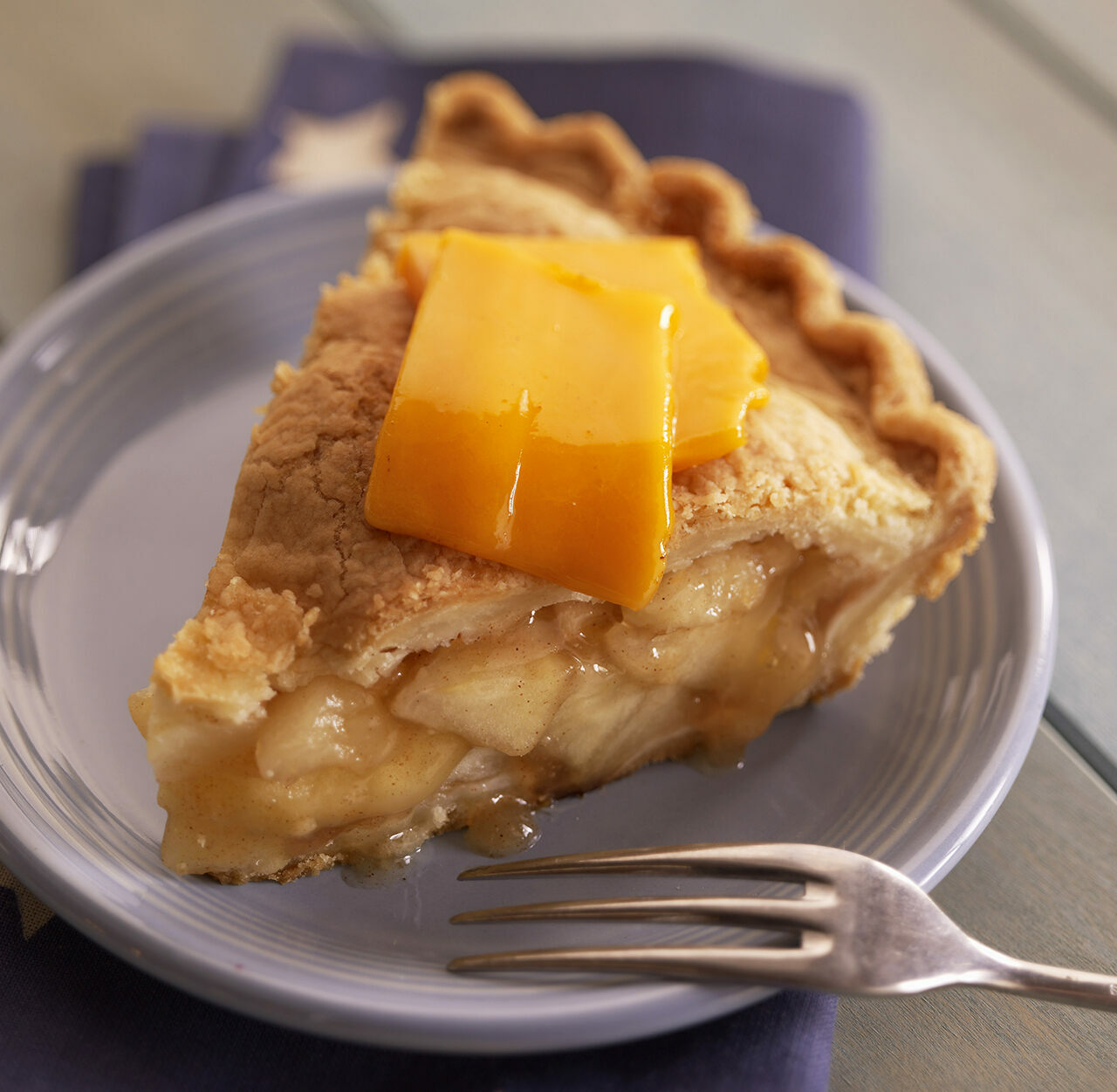Cheddar cheese on apple pie (one of the less complex variants).