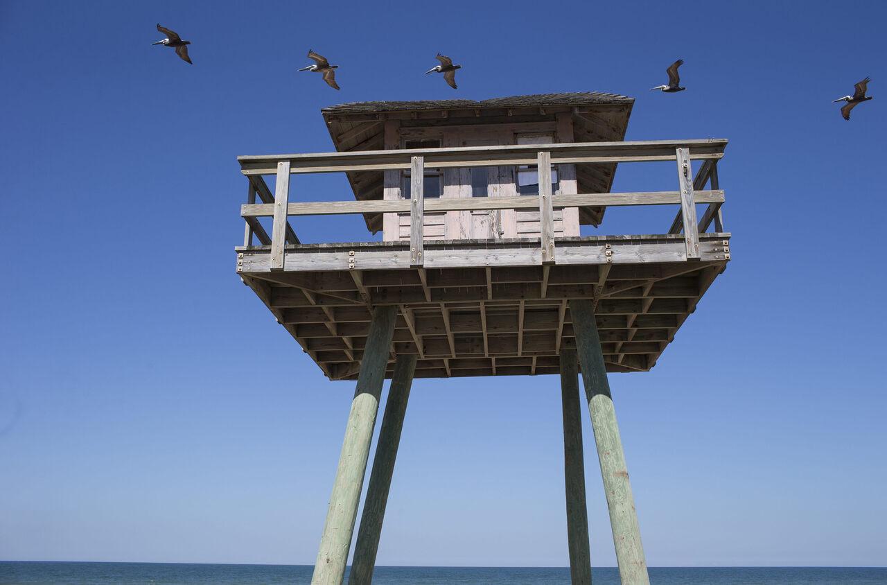 A WWII-era watchtower.