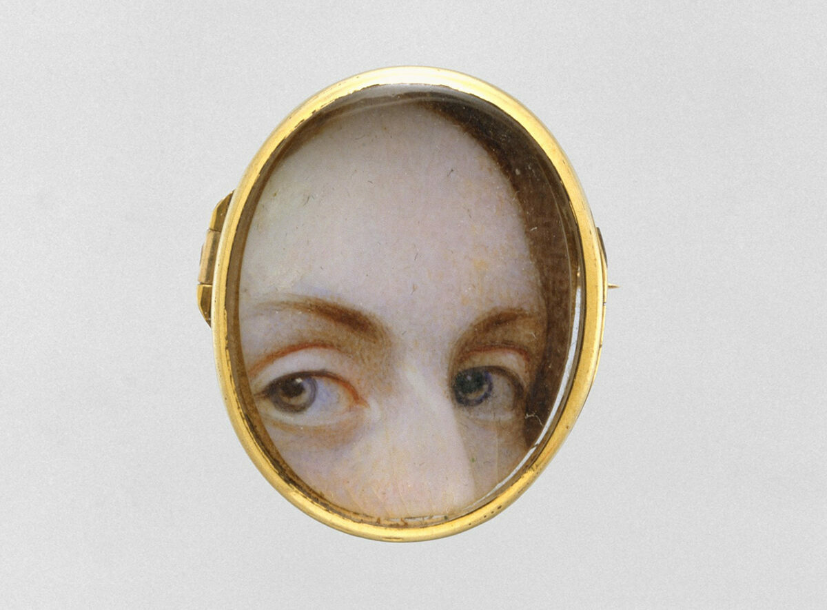 A miniature watercolor on ivory from c. 1840.