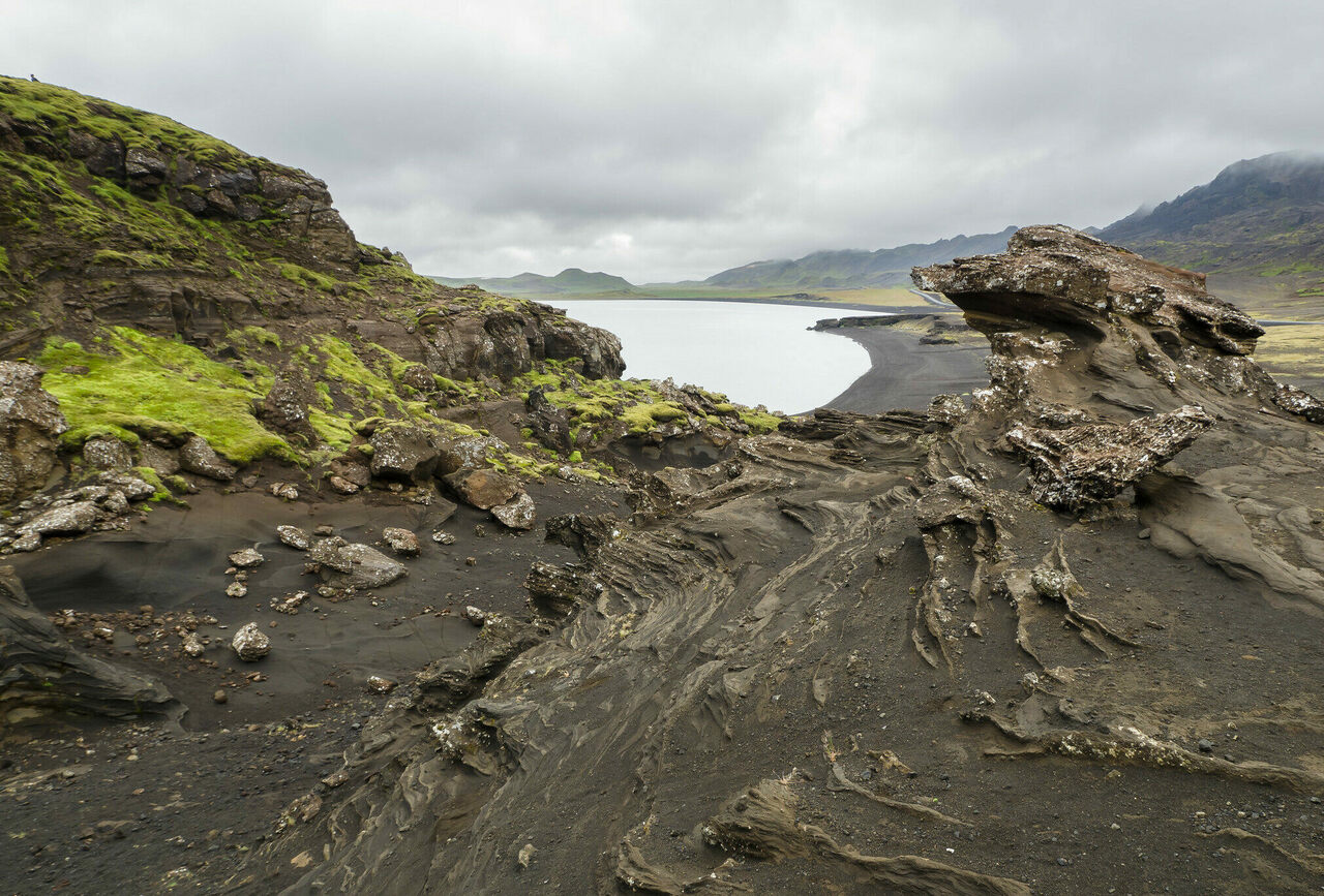 Across Iceland, proof of past eruptions is written on the landscape.