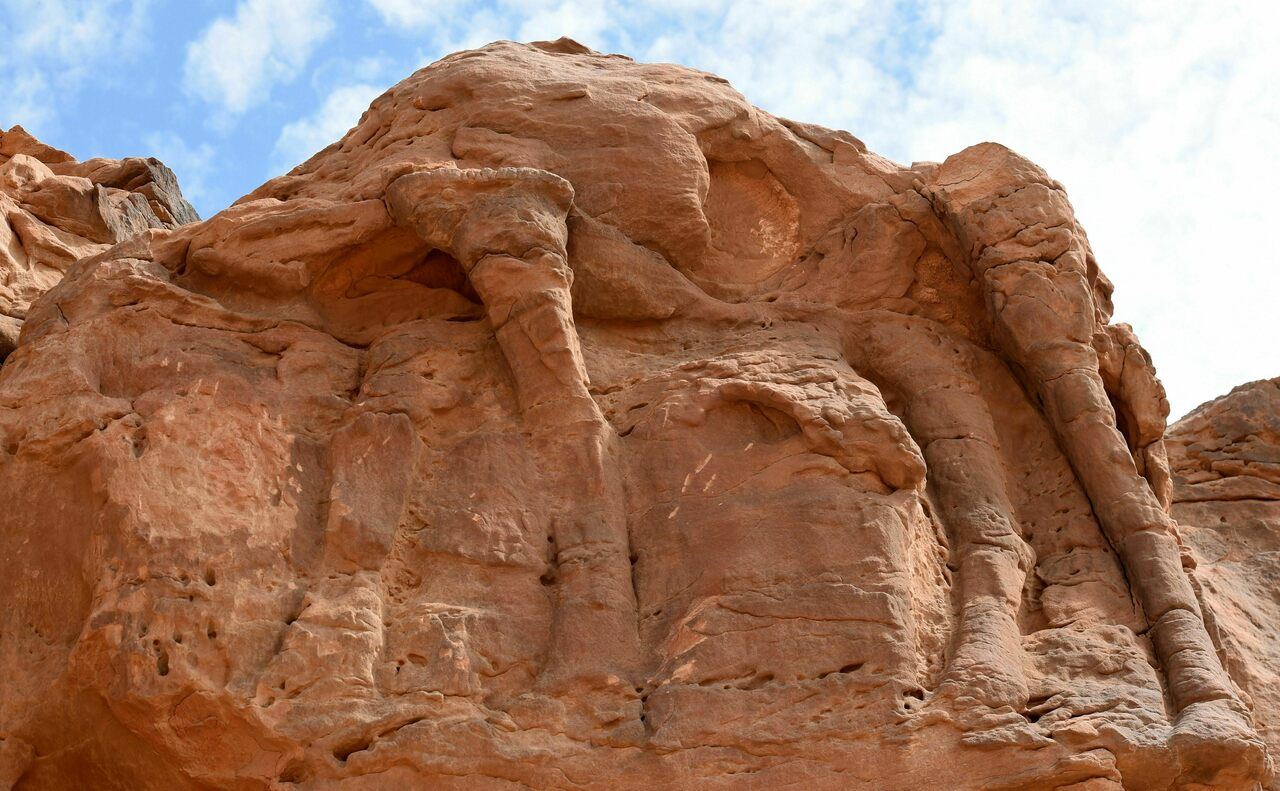 Archaeologists believe the life-sized camel and equid reliefs were likely carved and recarved throughout the Neolithic.