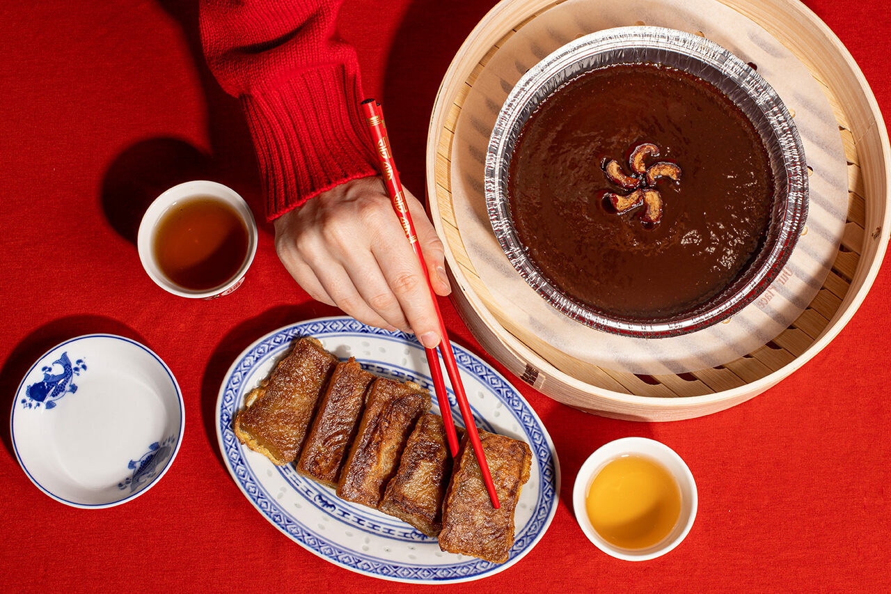 The stickiness of nian gao is part of its power.