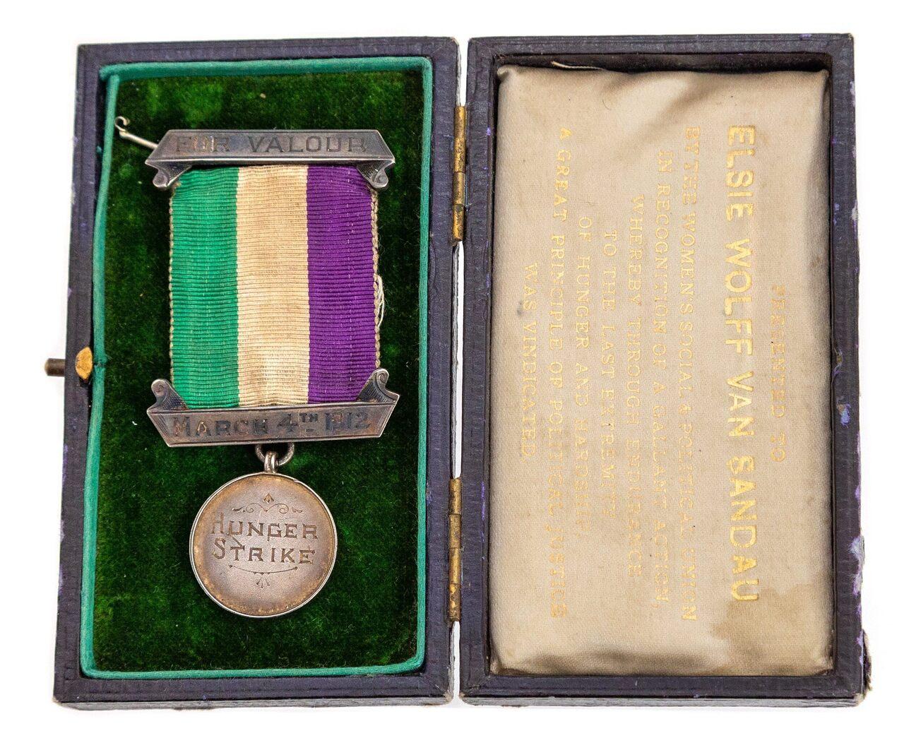 Elsie Wolff Van Sandau's medal in its original case, as it was found in the drawer.