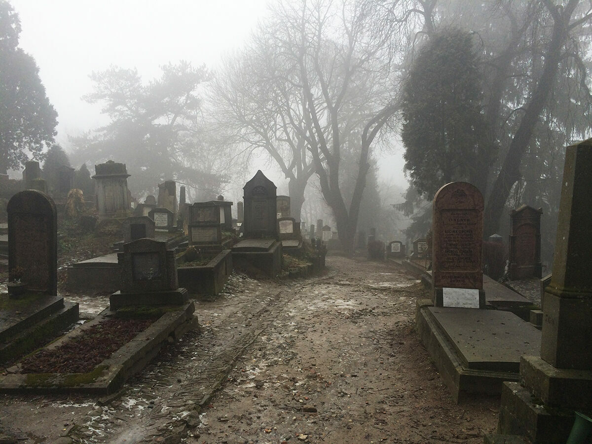 A graveyard of old Transylvanian Saxons, a perfect backdrop for a tale of the Undead, Stoker's original name for his novel.