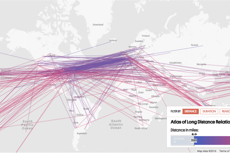 The Ultimate Crowdsourced Map of Long Distance Relationships - Atlas