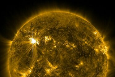 A strong solar flare from 2012.