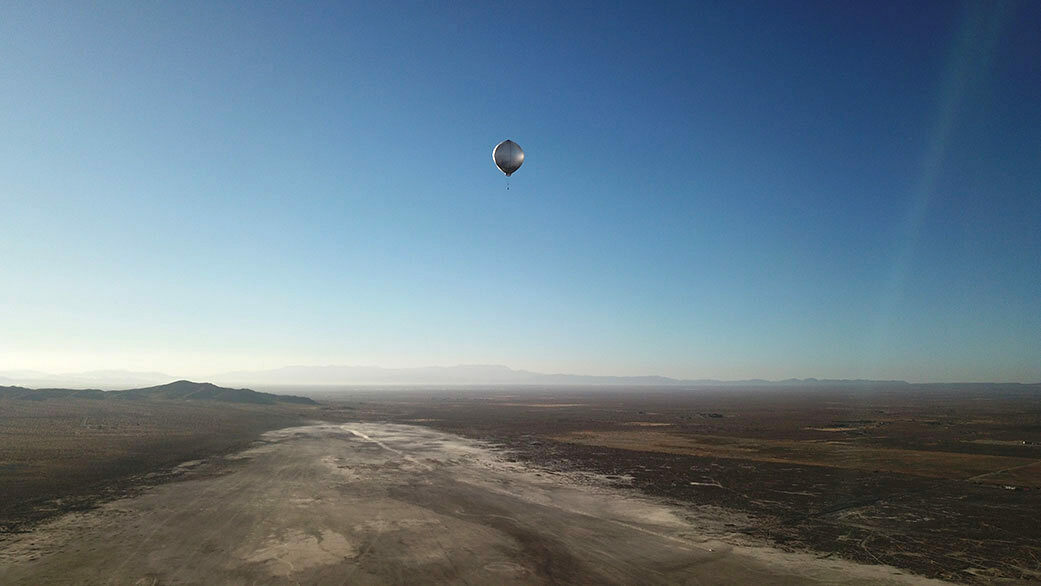 Scientists lofted balloons in summer 2019 to detect aftershocks of an earthquake in Ridgecrest, California.