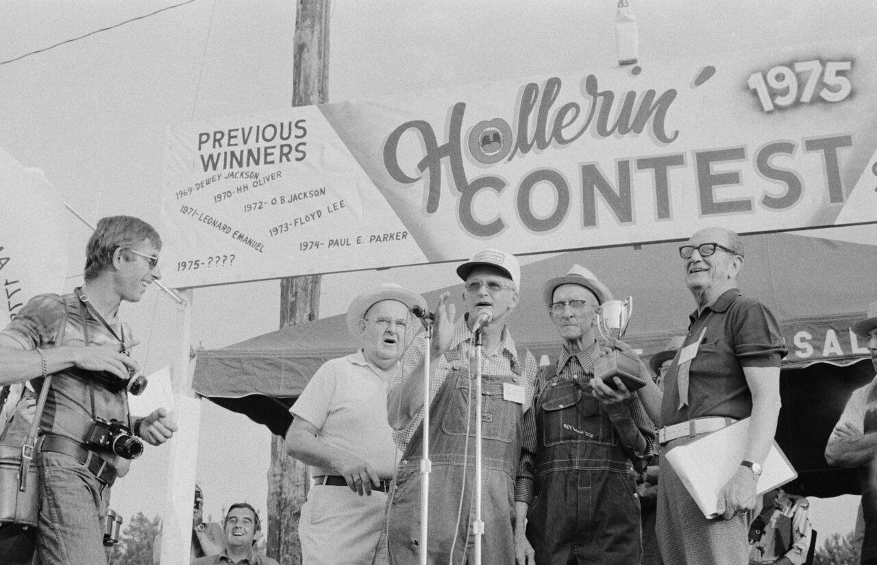 The 1975 Hollerin' Contest in Spivey's Corner, North Carolina.