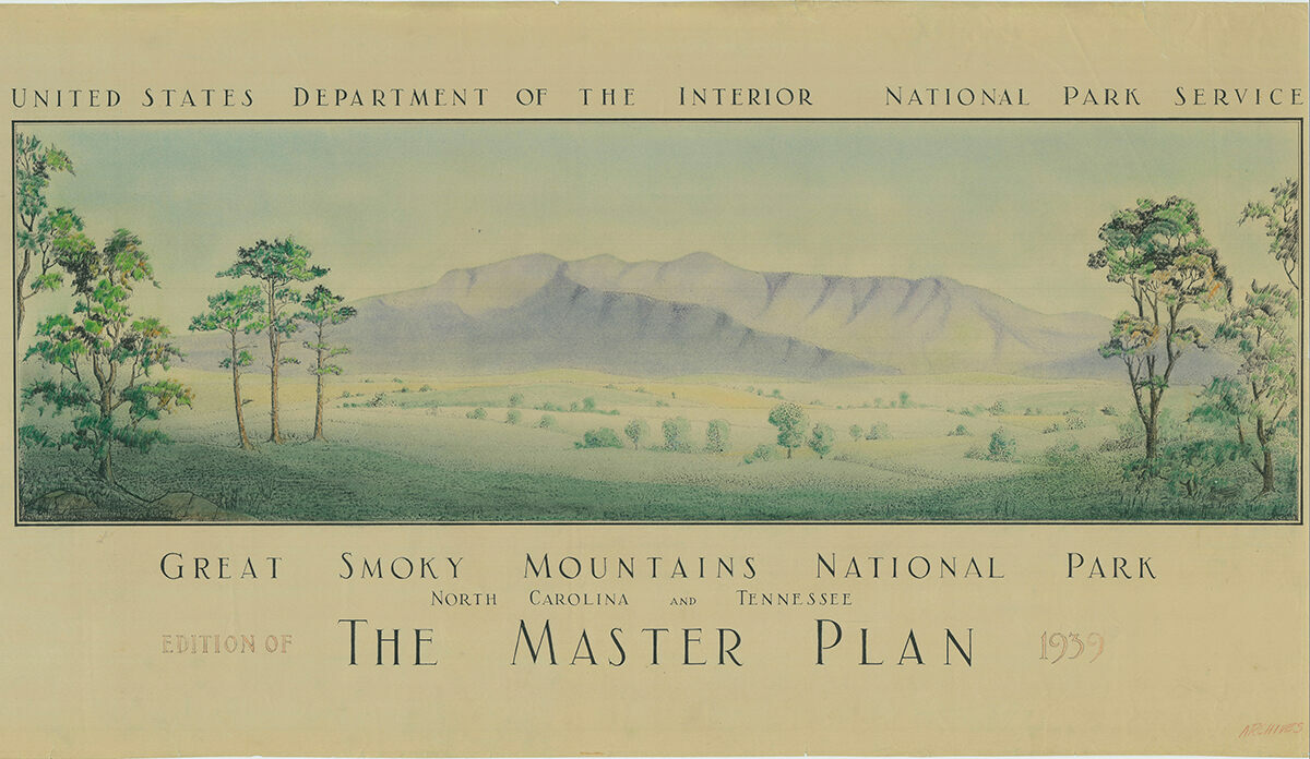 The 1939 Master Plan for Great Smoky Mountains National Park.
