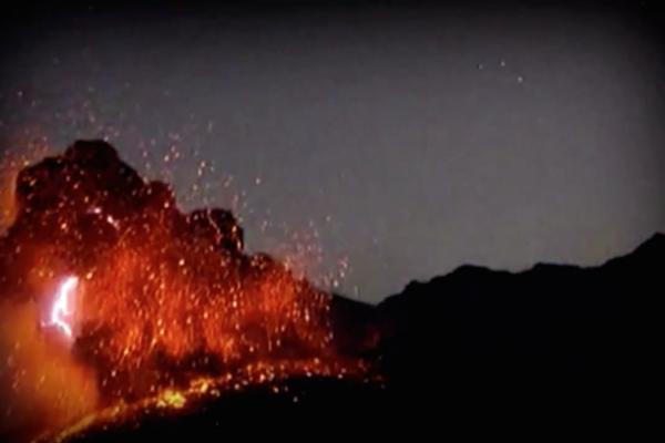 Japan's Lighting-Filled Volcano