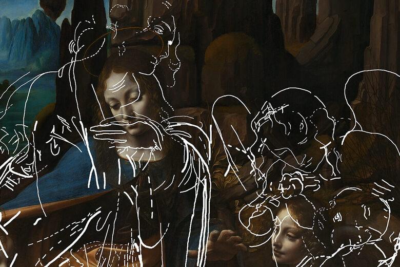 Found: Hidden Sketches Underneath a da Vinci Painting