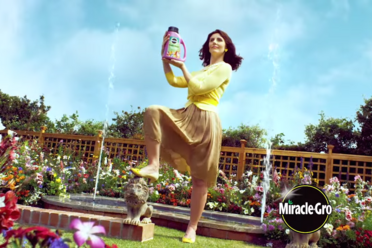 "A still from ""Flower Magic,"" a recent Miracle-Gro ad."