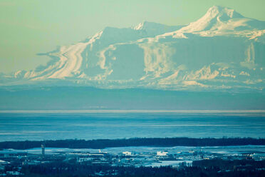 Mt. Spurr, near Anchorage, Alaska: not the desert.