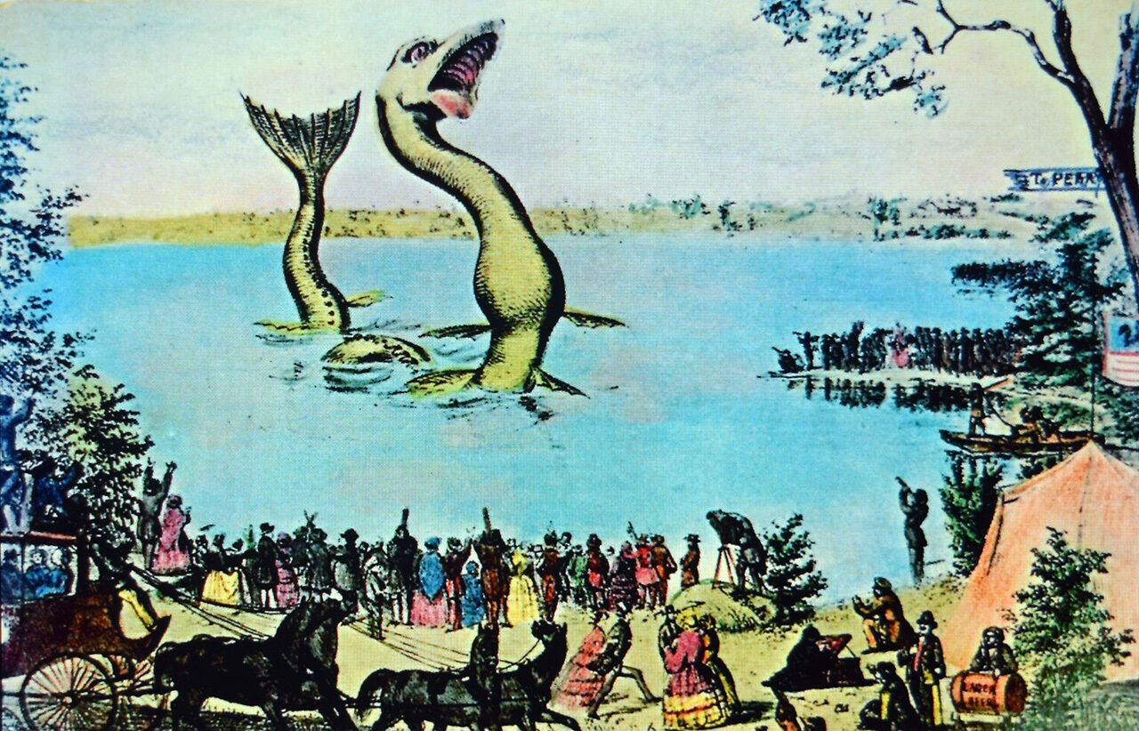 The chance to see Silver Lake's sea serpent brought the small town of Perry a much-needed boost in tourism back in the mid-19th century.