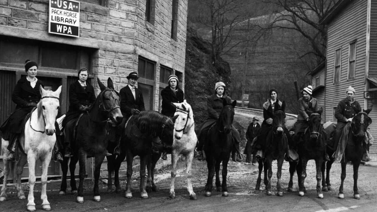 1 Man 1 Horse Video Link the women who rode miles on horseback to deliver library