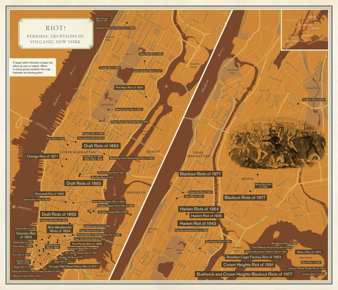 New York Citys History Of Resistance In One Riotous Map Atlas - Famous new yorkers map of us