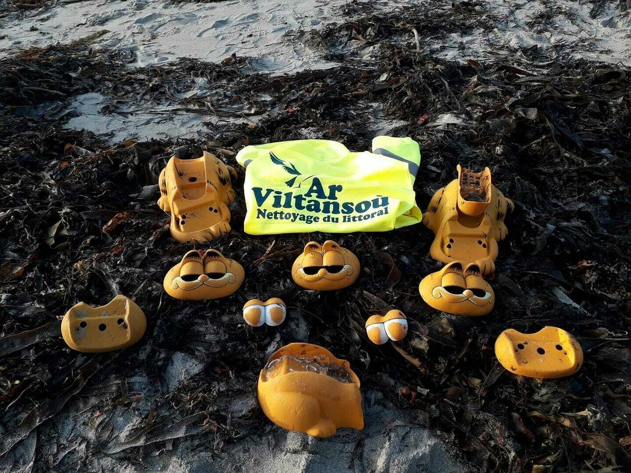 Pieces of these phones have been washing up on a Brittany beach for more than 30 years.