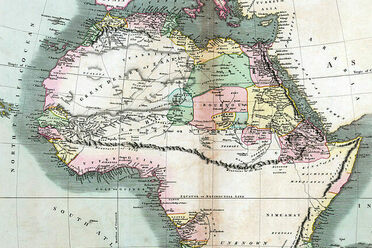 A 19thCentury Map of Our Square and Stationary Earth  Atlas