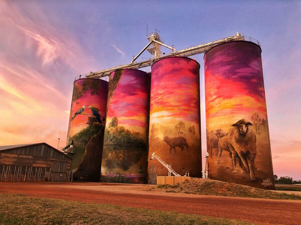 Painted Silos Are Turning the Outback Into an Alfresco Art Gallery