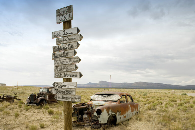 Along the Remains of Route 66, Road Trip Trash Has Become Treasure